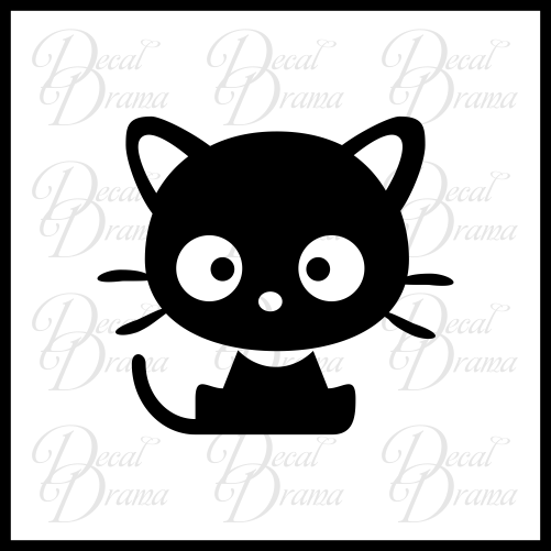 Cutie Kitty Vinyl Car/Laptop Decal