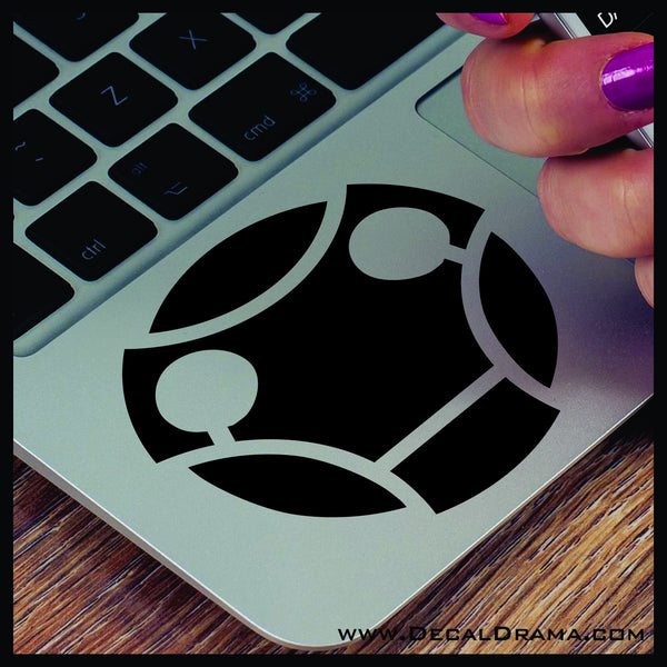 Cyberman face inspired by Doctor Who Vinyl Car/Laptop Decal