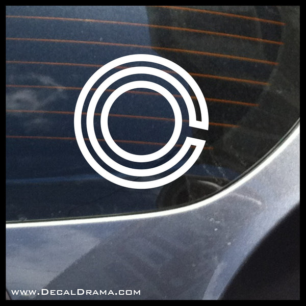 Cyborg Eye emblem, DC Comics-inspired Justice League Fan Art Vinyl Car/Laptop Decal