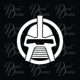 Cylon Head original, Battlestar Galactica-inspired Vinyl Car/Laptop Decal