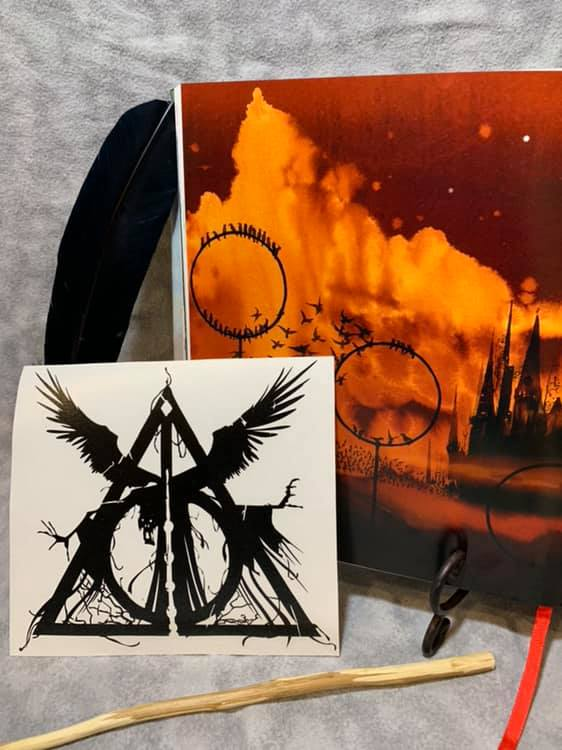 Death and the Hallows, vinyl decal inspired by The Tales of Beedle the Bard by JK Rowling