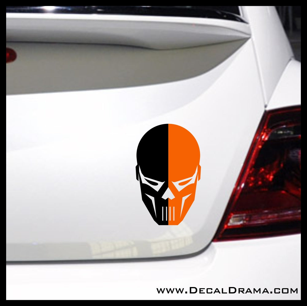 Deathstroke Mask, DC Comics Arrowverse Vinyl Car/Laptop Decal