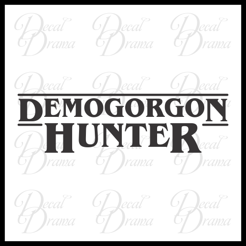Demogorgon Hunter, Stranger Things Fan Art Vinyl Decal