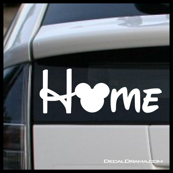 Home with Mickey head Disney-inspired Fan Art Vinyl Car/Laptop Decal