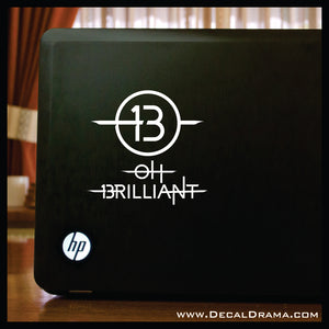 13 Oh Brilliant! Doctor Who-inspired Fan Art Vinyl Car/Laptop Decal