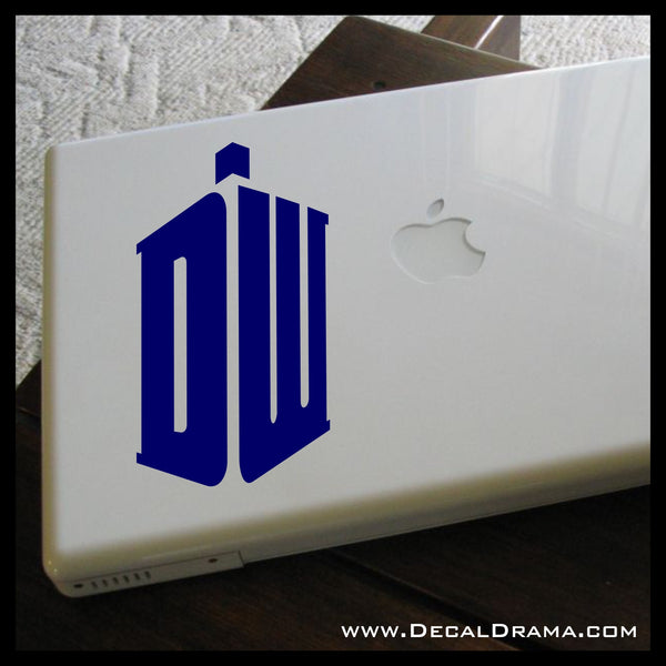 DW TARDIS logo inspired by Doctor Who Vinyl Car/Laptop Decal