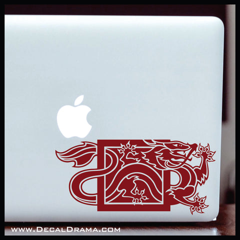 Dragon Reborn emblem, Wheel of Time-inspired Vinyl Car/Laptop Decal