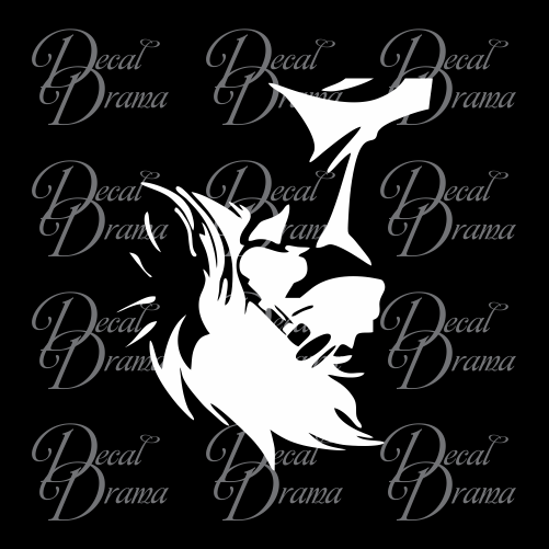 Ed Wong Hanging-from-above, Cowboy Bebop-inspired Vinyl Car/Laptop Decal