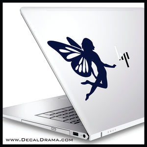 Elcliid Fairy with butterfly wings Vinyl Car/Laptop Decal