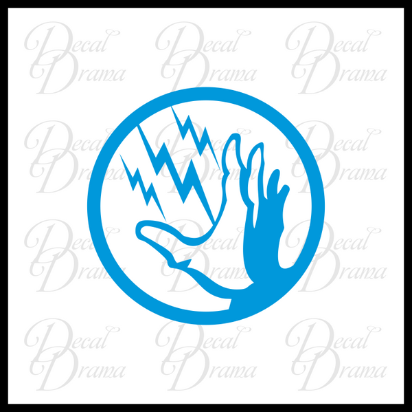 Electro Shock plasmid, Bioshock-inspired Vinyl Decal