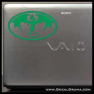 Emerald Dragon Vinyl Car/Laptop Decal