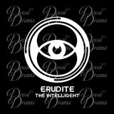 Erudite the Intelligent, Divergent-inspired Fan Art Vinyl Car/Laptop Decal