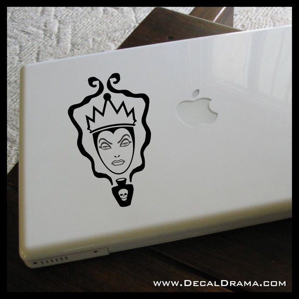 Evil Queen face inspired by Snow White's Villain Vinyl Car/Laptop Decal