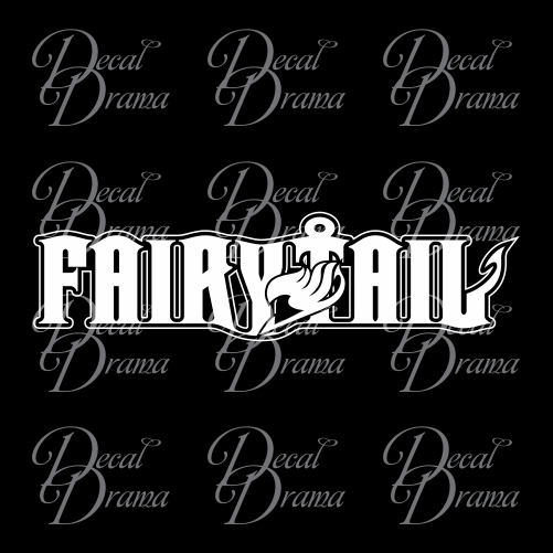 Fairy Tail title logo, Fairy Tail-inspired Vinyl Car/Laptop Decal