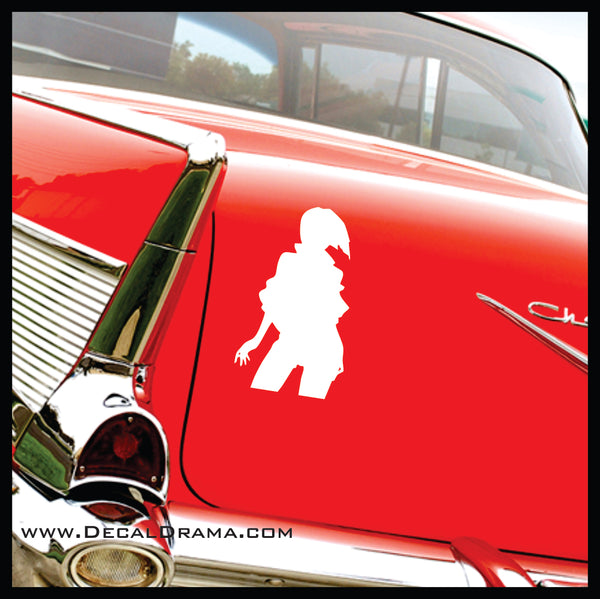 Faye Valentine body pose, Cowboy Bebop-inspired Vinyl Car/Laptop Decal
