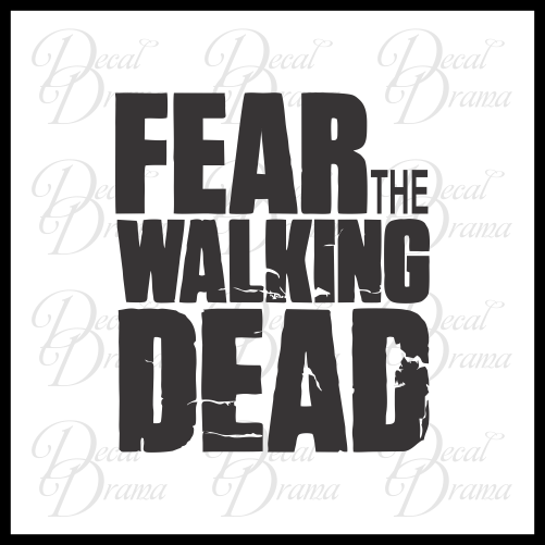 Fear the Walking Dead, The Walking Dead-inspired Fan Art Vinyl Car/Laptop Decal