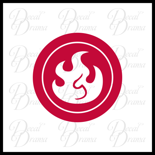 Fire Elemental, Skylander-inspired Vinyl Car/Laptop Decal