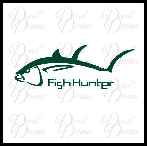 Fish Hunter Vinyl Car/Laptop Decal