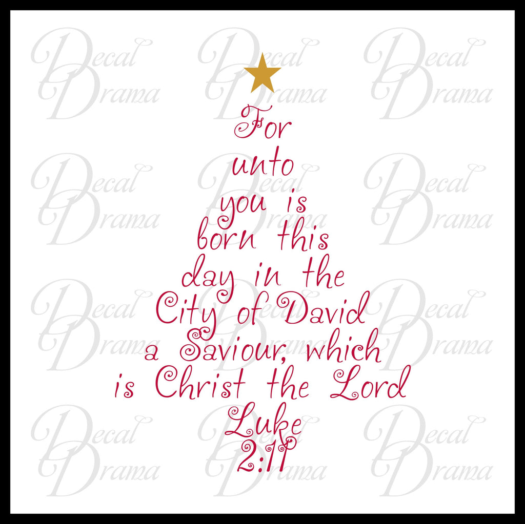 For unto you is born this day in the City of David Saviour Christ ...