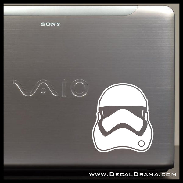 Force Awakens Stormtrooper Helmet, Star Wars-Inspired Fan Art Vinyl Wall Decal
