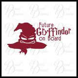 Future Gryffindor on Board, Harry Potter-inspired Fan Art, Vinyl Car/Laptop Decal