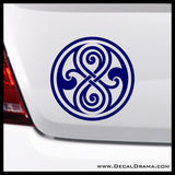 Gallifrey Seal of Rassilon from Doctor Who Vinyl Car/Laptop Decal