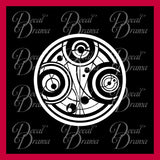 Gallifrey Time Lord Seal of Prydonian from Doctor Who Vinyl Car/Laptop Decal