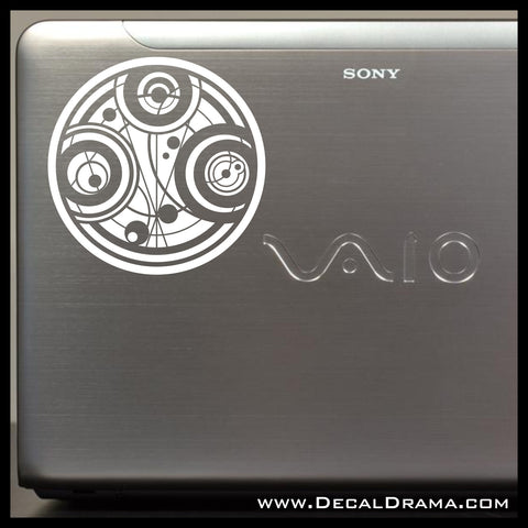 Doctor Who Inspired Seal of The Time Lords Vinyl Decal Sticker Car Window
