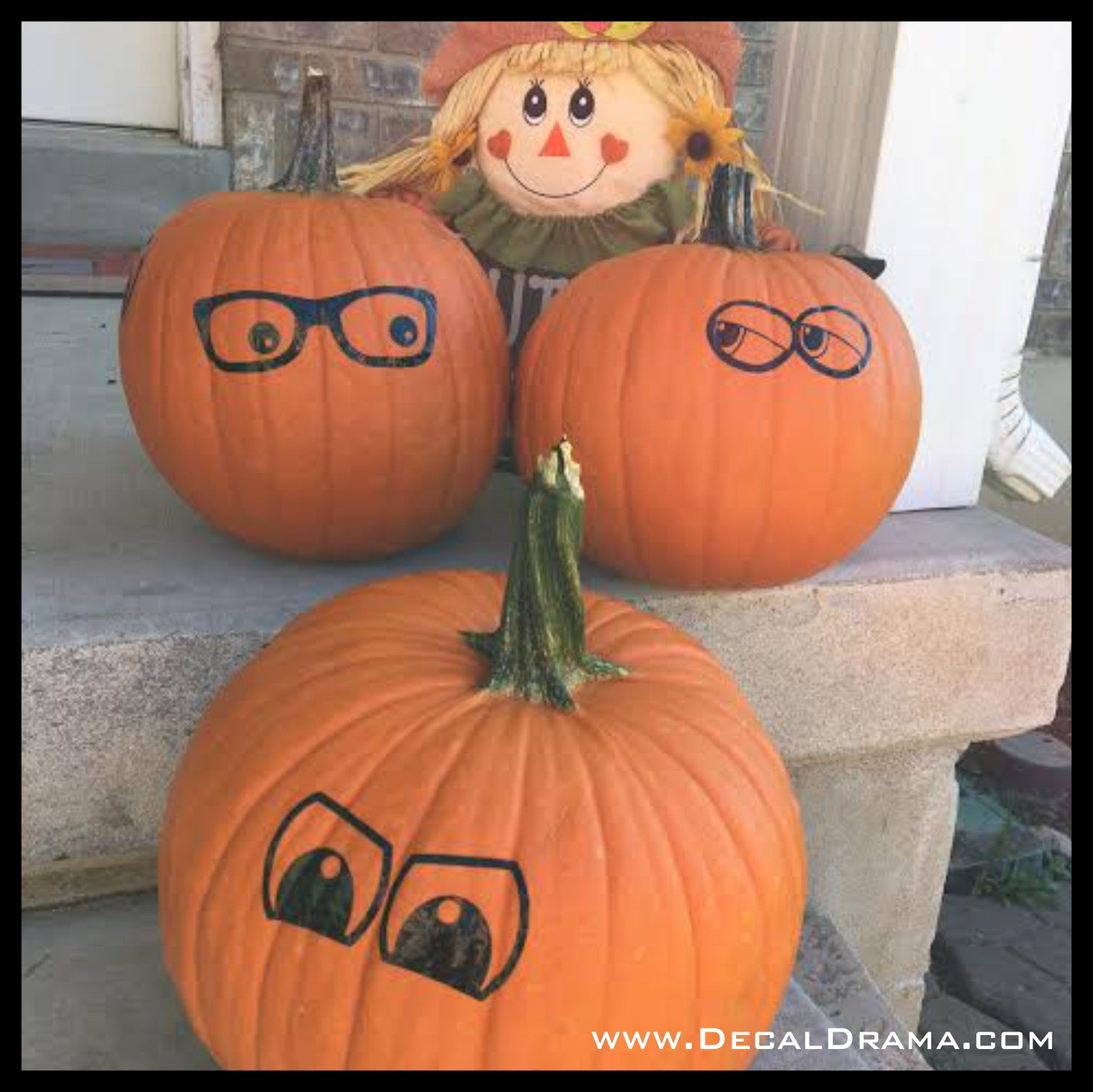 Goofy Eyes Set, Jack-O'Lantern Pumpkin Halloween Vinyl Wall Decal