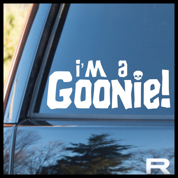 I'm a Goonie! Goonies-inspired Vinyl Car/Laptop Decal