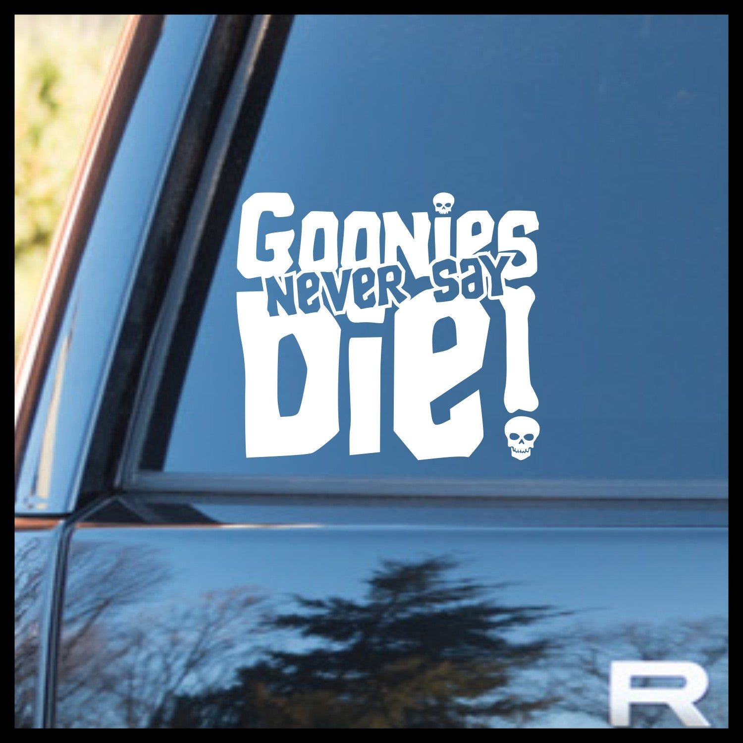 Goonies Never Say Die, Goonies-inspired Vinyl Car/Laptop Decal
