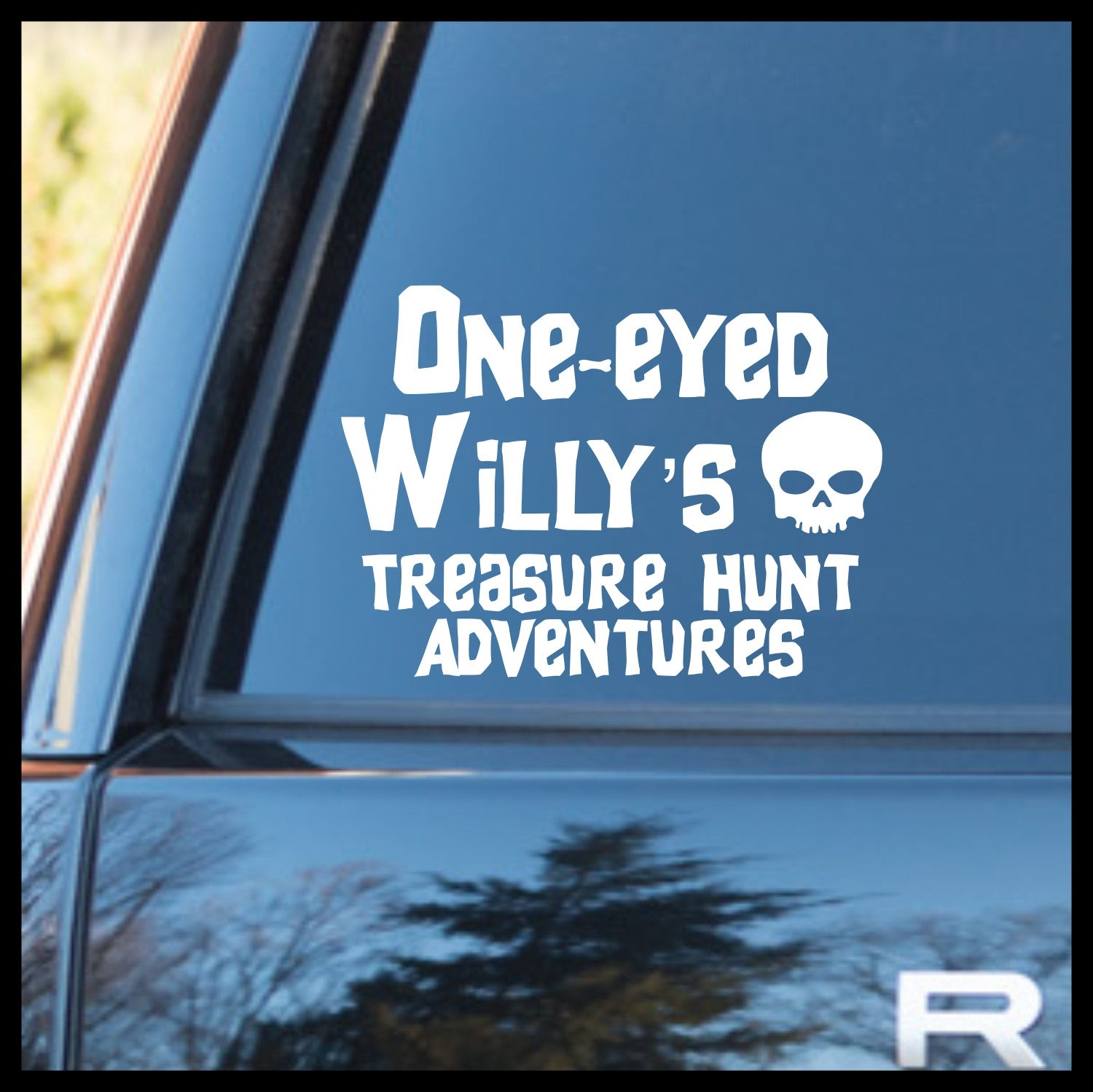 One-Eyed Willy's Treasure Hunt Adventures, Goonies-inspired Vinyl Car/Laptop Decal