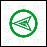 Green Arrow Oliver Queen emblem, DC Comics Arrowverse, Vinyl Car/Laptop Decal