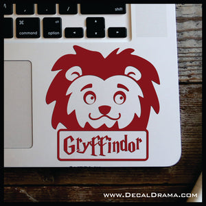 Gryffindor Lion Chibi, Harry Potter-inspired Fan Art Vinyl Car/Laptop Decal