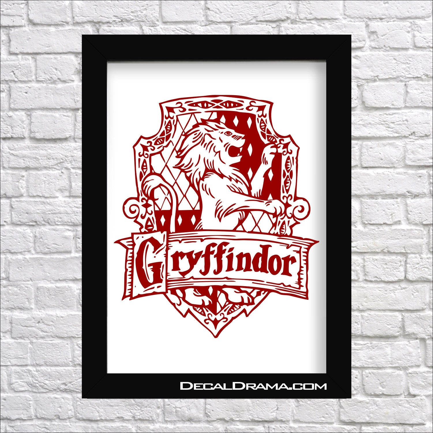 Gryffindor House Crest, Harry-Potter-Inspired Fan Art Vinyl Decal