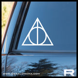 Deathly Hallows, Harry-Potter-inspired Fan Art, Vinyl Car/Laptop Decal