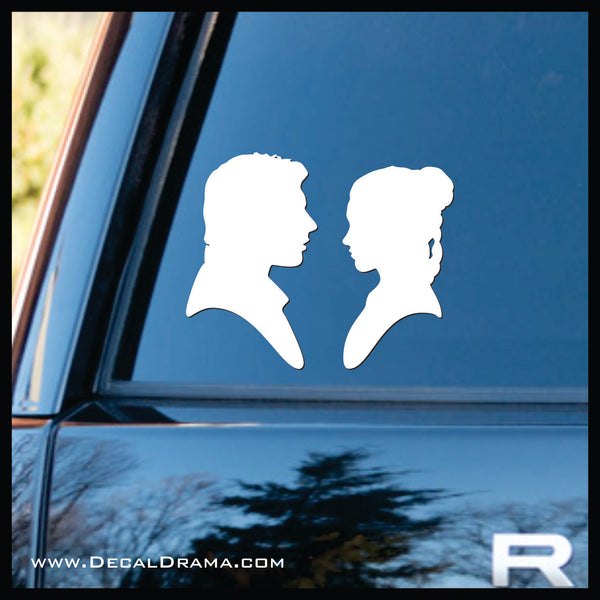 Han & Leia, I Love You, I Know! Star Wars-Inspired Fan Art Vinyl Wall Decal