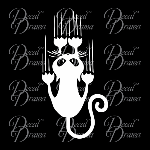 Hang On Kitty! Vinyl Car/Laptop Decal