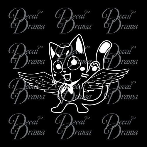 Happy magical cat, Fairy Tail-inspired Vinyl Car/Laptop Decal