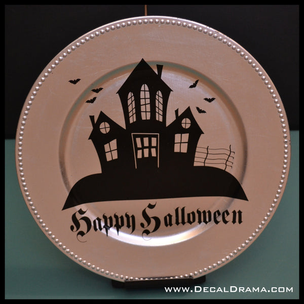 Haunted House Happy Halloween Vinyl Wall Decal