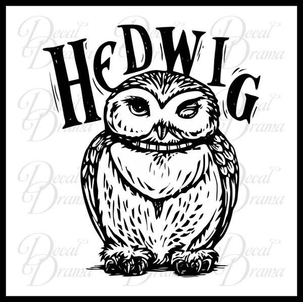 Hedwig the Owl, Harry-Potter-Inspired Fan Art Vinyl Decal