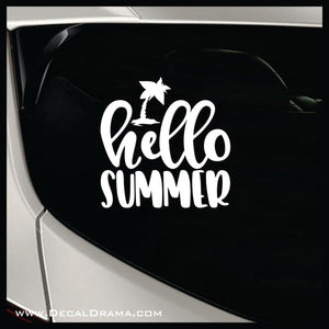 Hello Summer Vinyl Car/Laptop Decal