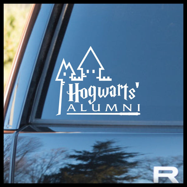 Hogwarts' School of Witchcraft & Wizardry ALUMNI, Harry Potter-inspired Fan Art, Vinyl Car/Laptop Decal