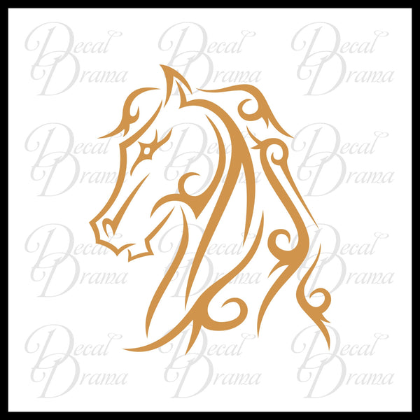 Horse Head Stallion Vinyl Car/Laptop Decal