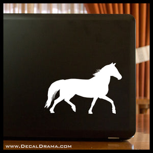 Trotting Horse Vinyl Car/Laptop Decal