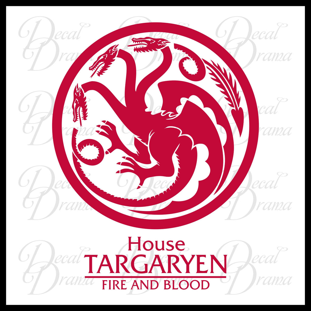 House Targaryen Dragon Fire and Blood GoT Game of Thrones-inspired ...