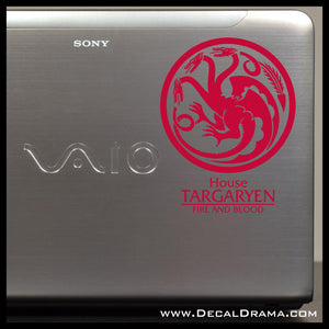 House Targaryen Dragon Fire and Blood GoT Game of Thrones-inspired Vinyl Car/Laptop Decal