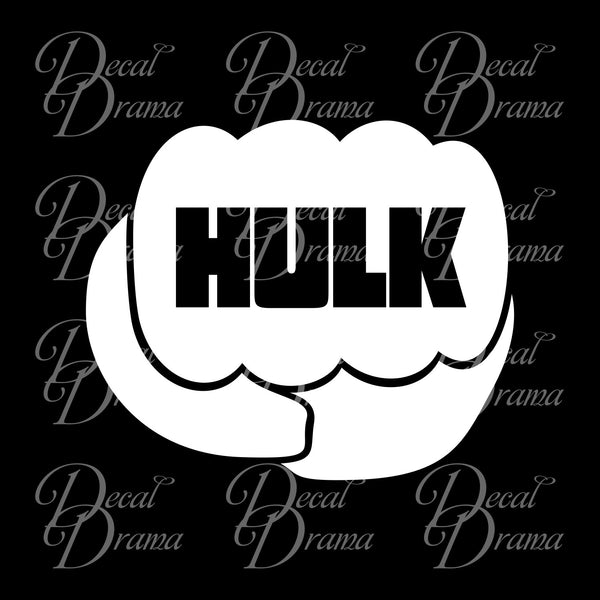 Hulk Fist, Marvel Comics Avengers, Vinyl Car/Laptop Decal
