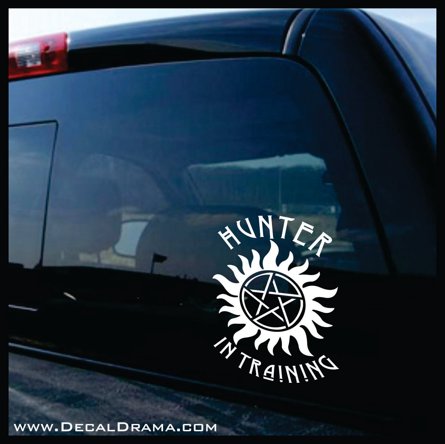 Hunter in Training, TVs Supernatural-inspired Fan Art, Vinyl Car/Laptop Decal