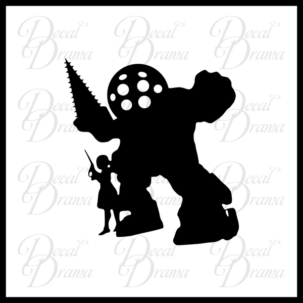 I'm Here to Visit, Big Daddy, Bioshock-inspired Vinyl Decal